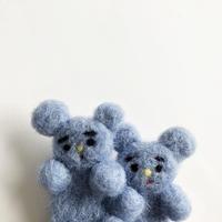 双子の動物ブローチ  3-Type / さとなかちさ