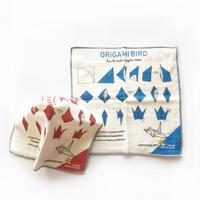 83SELECT / ORIGAMI BIRD タオルハンカチ|ブルー・レッド
