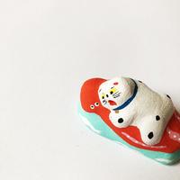 habotan / タコ襲い猫|土人形