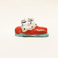 habotan / タコ乗り猫|土人形