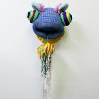 203gow / Jumbo Knit PUKE [BLUE]