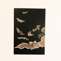 鳥獣略画式 絵はがき 蝙蝠 [鍬形蕙斎]/ 83