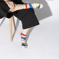 TRICOTE / LINE PATCH SOCKS|2-Color