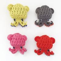203gow /編みイカ ブローチ ミミイカ [Knitting Squid brooch]