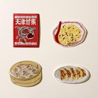 83SELECT / 刺繍ワッペン [中華 ] |4-Type