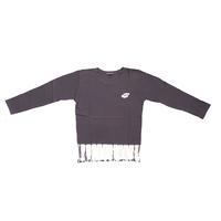 suzusan Cotton Dual-Layered Long Sleeve T-Shirt Grey