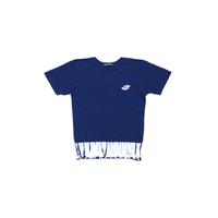 suzusan Cotton Dual-Layered Short Sleeve T-Shirt Navy Blue