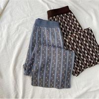 【10月下旬~11月上旬発送】ジャガードknit pants