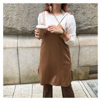 [予約商品] satin w/m dress (beige gold)