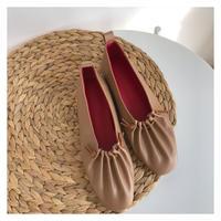 [予約] gather flat shoes