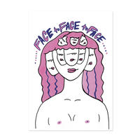 ZINE 「 face to face to face 」ステッカー付き
