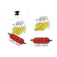 sticker - popping banana&apple -