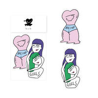 sticker -BIG HIP & GIRLS-
