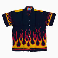 D/S FLAME  SHIRTS BLK/RED