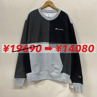 Champion R/W SWEAT GRAY/BLACK