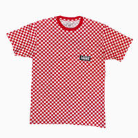 VANS TEE CHECKERED RED