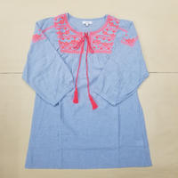 MEXICAN BLOUSE LIGHT BLUE