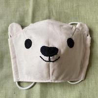 こやぎぬい部布マスク〈しろくま〉 こどもサイズ(幼児向け) 「綿100%」