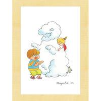 [雑貨]『かぶしきがいしゃくも』ポストカード「雲の恐竜」