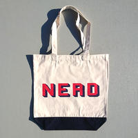 "BOOKNERD ORIGINAL TOTE ""NERD""    NATURAL×NAVY"