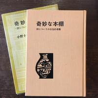 『奇妙な本棚 詩についての自伝的考察』 小野十三郎
