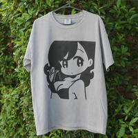 "conix cover girl T-shirt ""Face"" Grey"