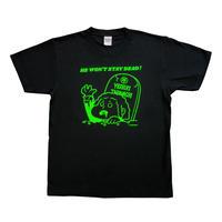 アンデッド・ヨシキTシャツ(ブラック×ブライトグリーン)