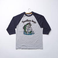 SLIDE BASS_Baseball Tee_GRYxNVY