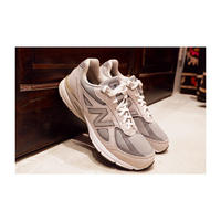 "Used ""Gray Color"" Shoes  Men's New balance M990v4  nubuck"