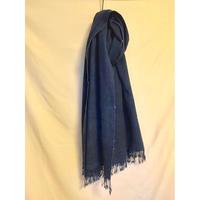 "Vintage  ""Blue color"" African Batik Indigo Stall アフリカンバティック インディゴストール"