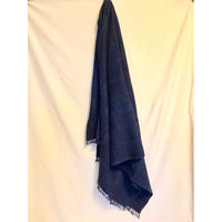 "Vintage  ""Blue color"" African Batik Indigo Shawl アフリカンバティック インディゴショール"
