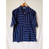 CATTA(カッタ)コットンシルクストライプ切り替えシャツ