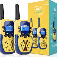"""USA Toyz """"Vox Box"""" Walkie Talkies for Kids (Blue and Yellow)"""