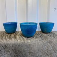 【ターコイズブルー】 オリジナル鉢 中【笠間焼】 フラット口 直径13cm