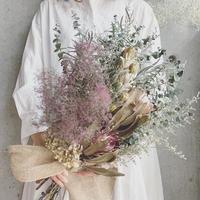 ≪ご予約済≫スモークツリーとプロテア・紫陽花のボタニカルワイルドブーケ