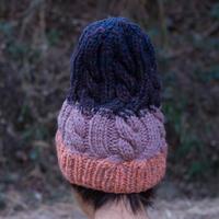 Corn Head Knit Cap (Pink Purple Navy)