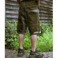 Workman's Half Pant (Khaki × Saxe Blue )