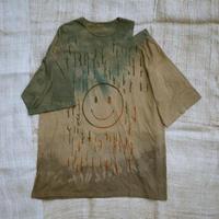 型染め / Oversize T-shirts (森のニコちゃん Brown)