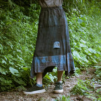 Rebirth Tee  Skirt (Blue×Maroon)