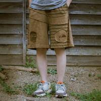 Patchwork Half Pants / Khaki (S size)