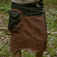 Cargo Pocket Skirt (Red) / Meek Weed