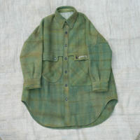 草木染 CPO Wool Coat (Yellow Green)