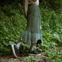 Rebirth Tee  Skirt (Green×BlueGreen)