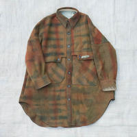 草木染 CPO Wool Coat (Brown)