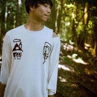 型染め / Oversize T-shirts (House & Door/Red)