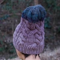 Corn Head Knit Cap (Purple Navy)