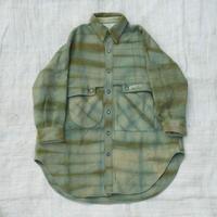 草木染 CPO Wool Coat (Green)