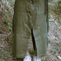 Dungaree Slit Skirt GR(Green)