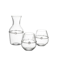 [Juliska] GRAHAM CARAFE + 2 STEMLESS RED WINE GIFT SET