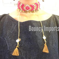 Deepa Gurnani Kesha Necklace Fuschia